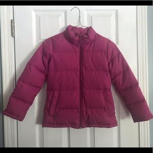Land's End girls pink jacket 6X - 7